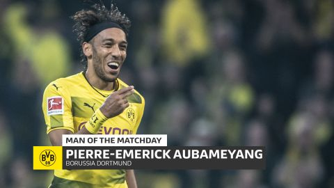 Aubameyang: MD6's Man of the Matchday The Gabon striker's hat-trick helped fire Borussia Dortmund to a thumping victory over Gladbach. vor 2 Stunden