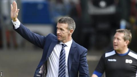 Ross County sack manager Jim McIntyre and assistant Billy Dodds