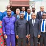 PHOTOS: CAF chief Ahmad visits Ghana Vice-President Mahamadu Bawumia
