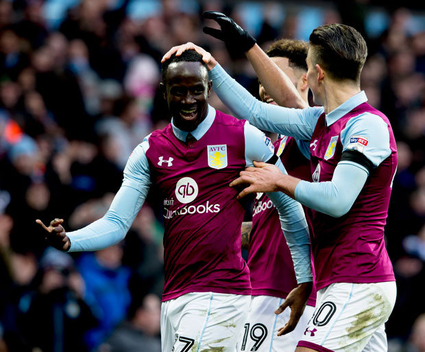 Albert Adomah scores as Aston Villa down Nottingham Forest in Championship