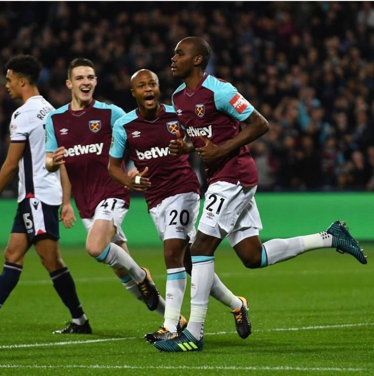 Andre Ayew grabs assist in West Ham United's 3-0 win over Bolton Wanderers