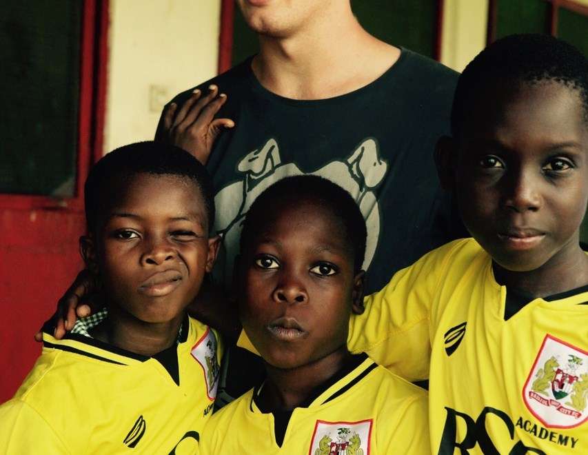 PHOTOS: English side Bristol City donate kit to Ghanaian village