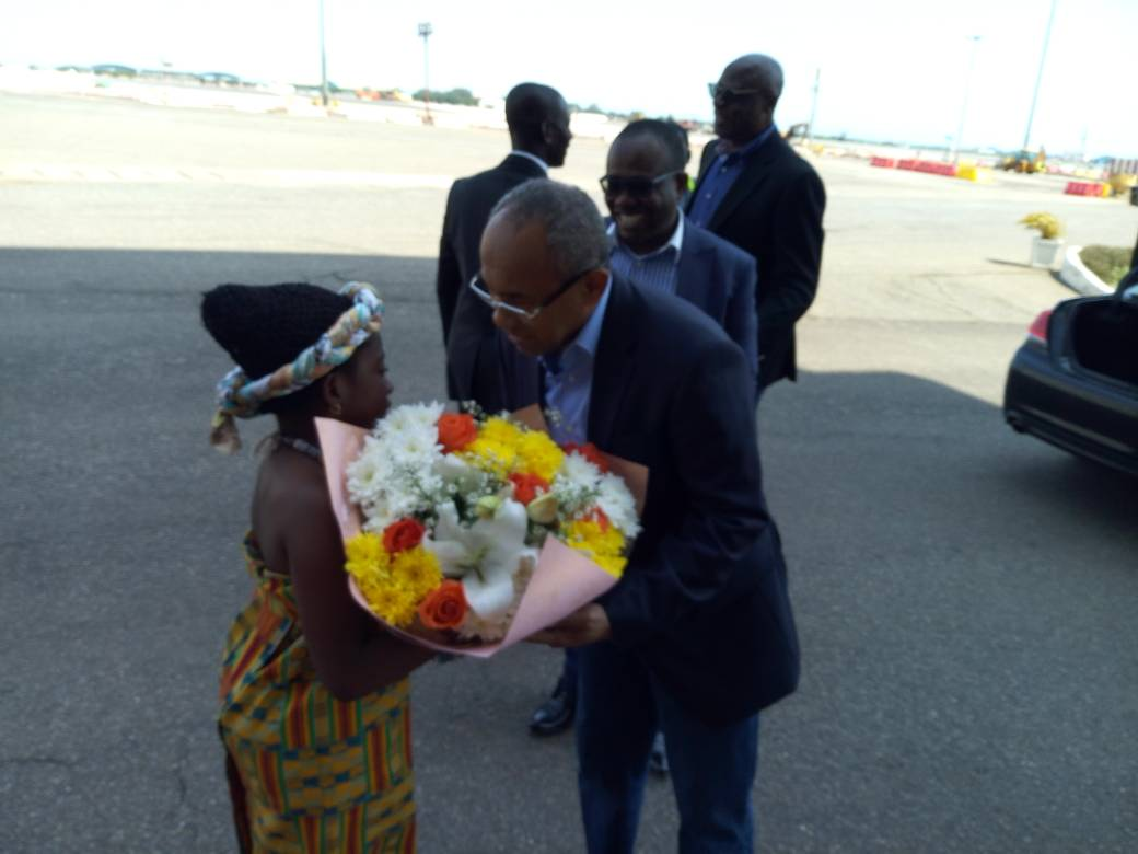 President Dr Ahmad arrives in Ghana for CAF Executive Committee and WAFU final
