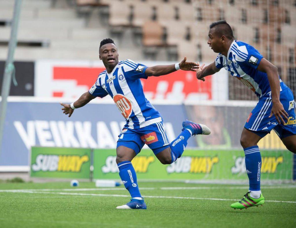 Ghana winger Evans Mensah opens goalscoring account for HJK in Finnish league