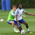 PHOTOS: Chelsea defender Abdul Baba Rahman returns to full scale training at Chelsea