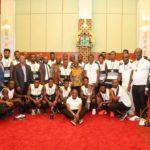 PHOTOS: Victorious Black Stars B squad visits Ghana President Akufo Addo