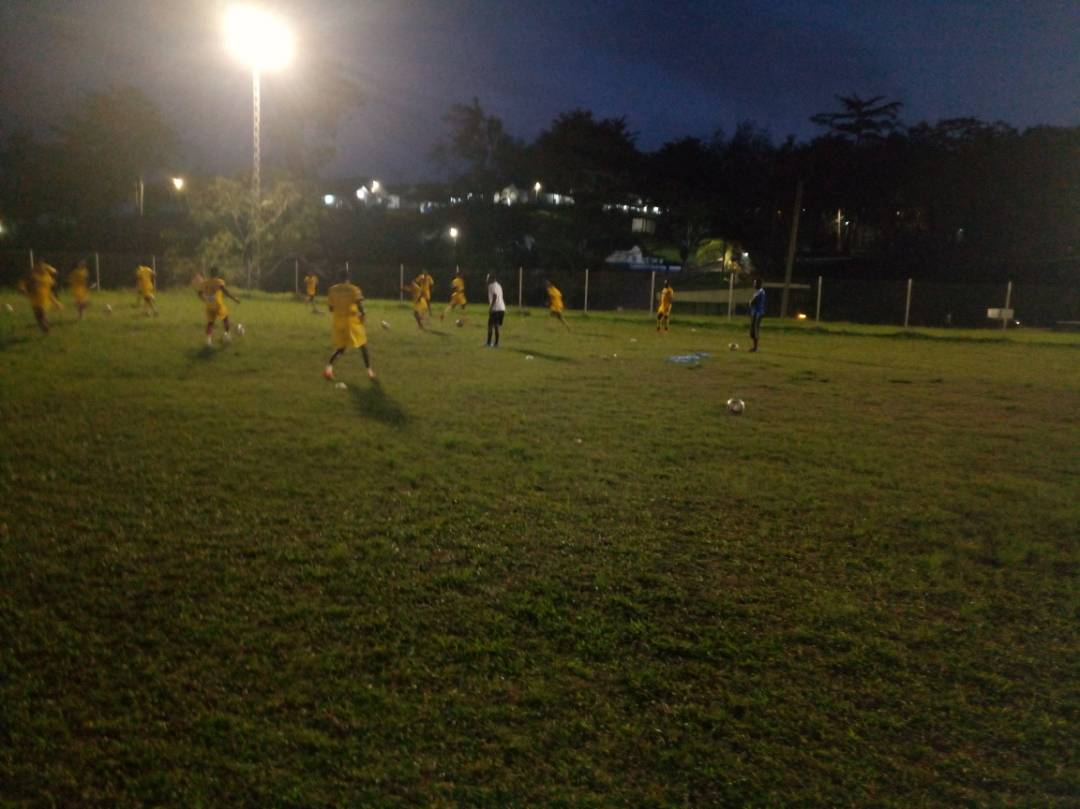 PHOTOS: Medeama train under floodlight ahead of FA Cup semi-final clash against Kotoko