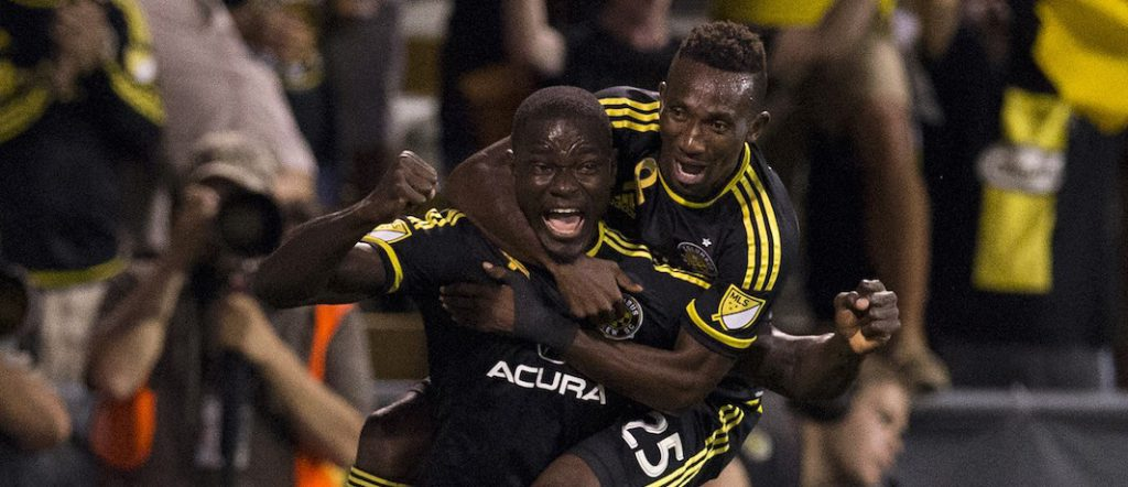 Jonathan Mensah heads in second MLS goal of the season for Columbus Crew