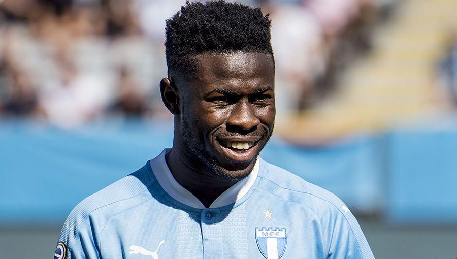 Malmo FF midfielder Kingsley Sarfo marks Black Stars debut in lively draw against Uganda