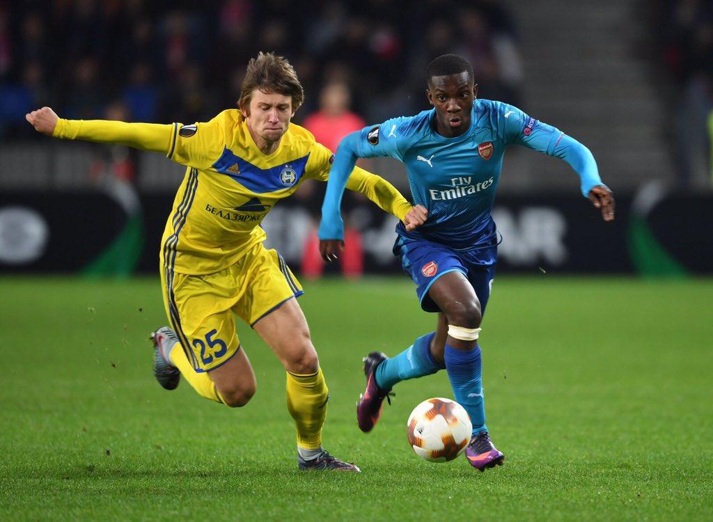 Arsenal starlet Edmund Nketiah proud to make competitive debut