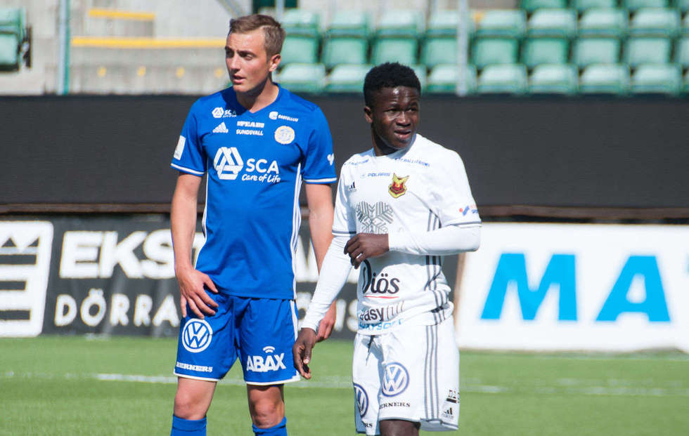 Teenager Frank Arhin debuts for Swedish side Oestersunds FK in Allsvenskan win