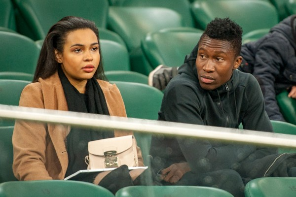 Young Ghanaian striker Saddam Sulley nabs hot girlfriend from Poland?