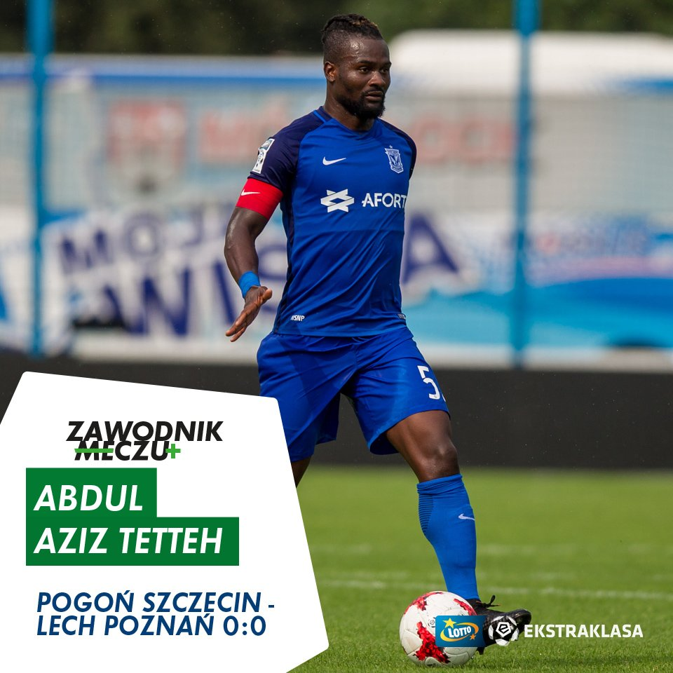 Lech Poznan's Aziz Tetteh named best player in game against Pogon Szczecin