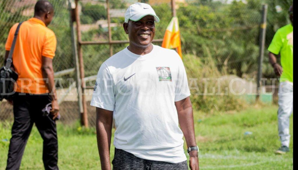 Dreams FC coach Karim Zito applauds his players for securing G-8 final berth