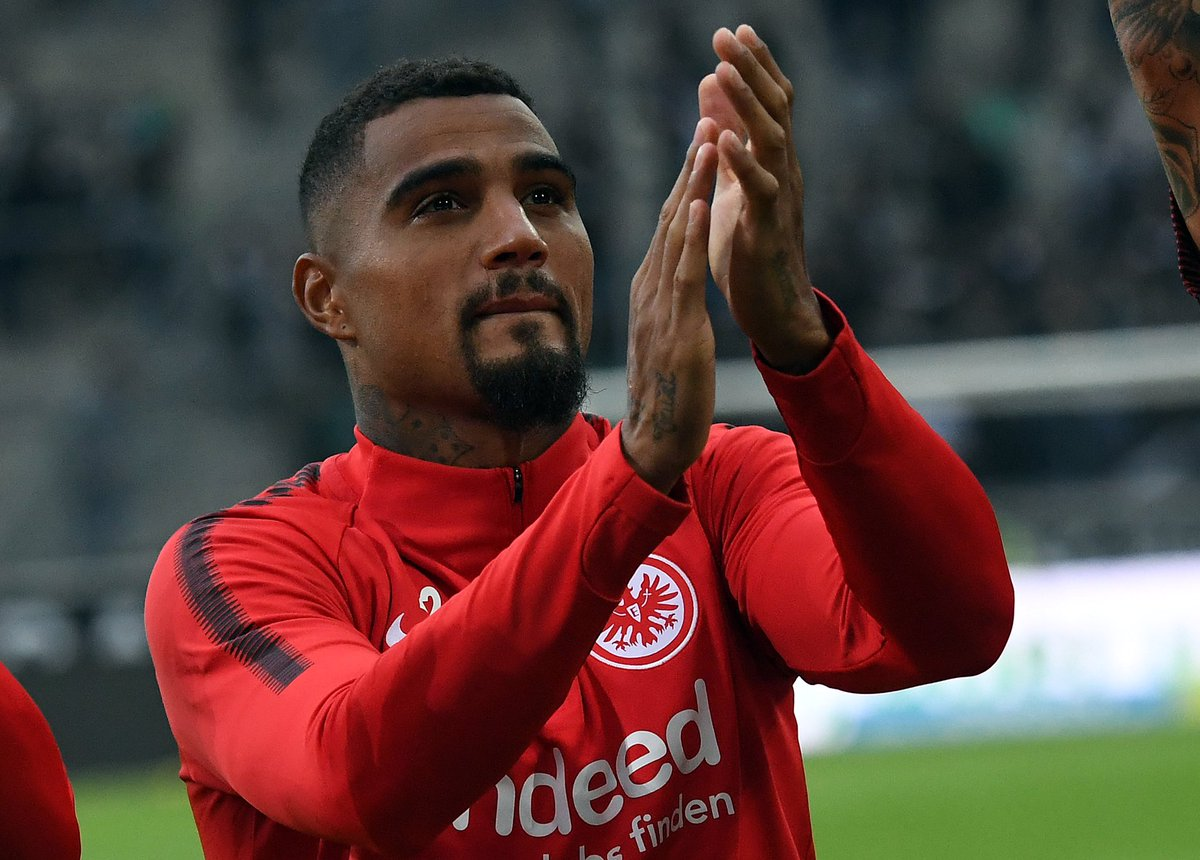 Kevin Prince Boateng could lead Eintracht Frankfurt to European football this season