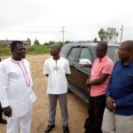 Asante Kotoko chairman Dr Kwame Kyei cuts sod for mini stadium construction at Adako Jachie