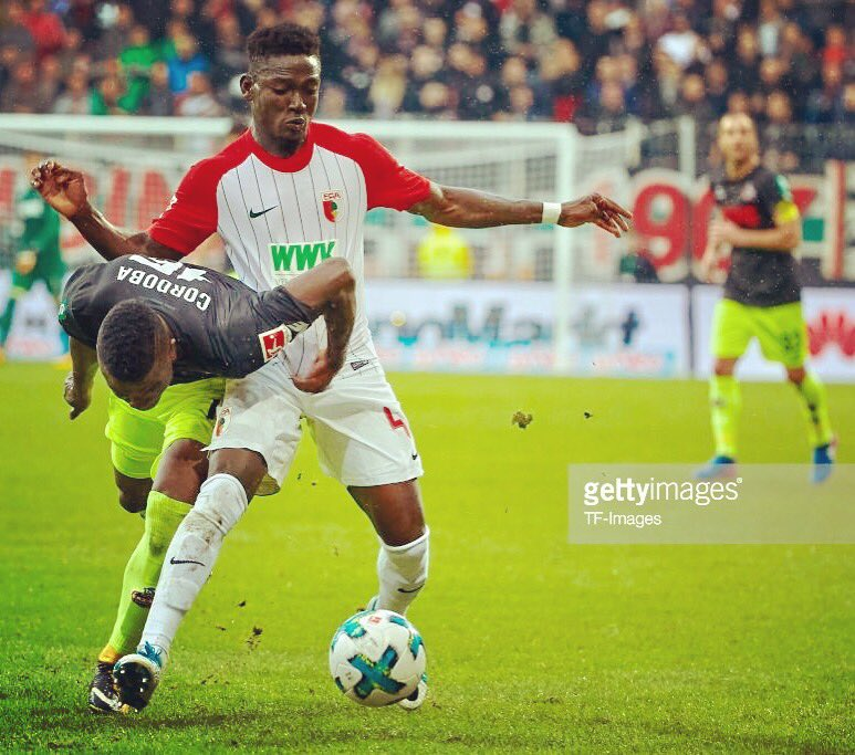 Ghana defender Daniel Opare excels but Augsburg suffer home defeat against Dortmund