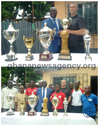 Right to Dream Academy present trophies to Eastern Region FA after Europe success