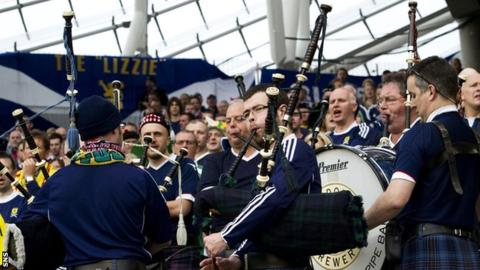 Slovenia V Scotland Bagpipes Allowed At World Cup Qualifying Match
