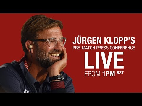 Jürgen Klopp's pre-Manchester United press conference from 1pm BST