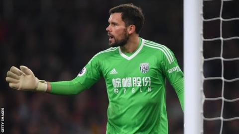Ben Foster: West Brom keeper injures knee 'playing with son in garden'