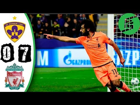 Maribor vs Liverpool 0-7 - Highlights & Goals - 17 October 2017