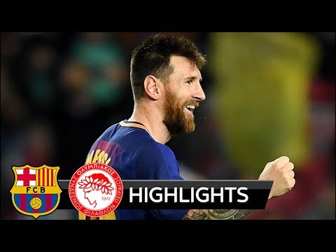 Barcelona vs Olympiakos 3-1 - All Goals & Extended Highlights - Champions League 18/10/2017 HD