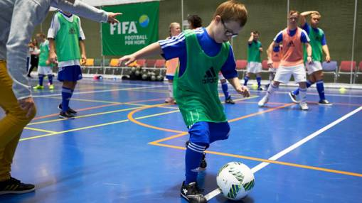 Disabled children learn life skills through football