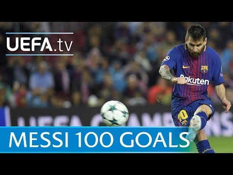 Lionel Messi - 100 European goals - Watch them all