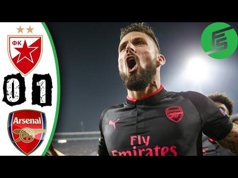 Red Star Belgrade vs Arsenal 0-1 - Highlights & Goals - 19 October 2017
