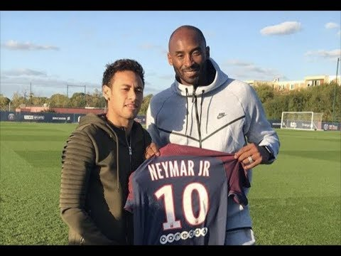 Kobe Bryant meets Neymar & shows some skills in training