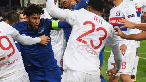 Everton ban fan for punch at Lyon player