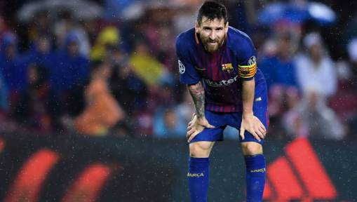 Here Is What Messi Really Took Out From His Sock During Barcelona's Clash With Olympiakos