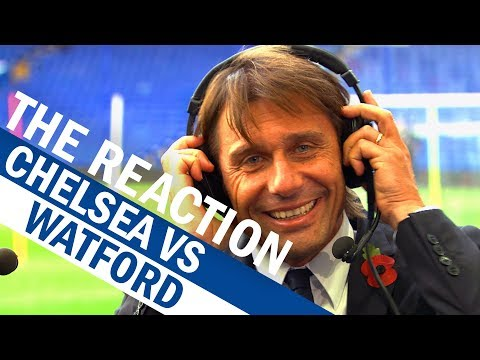 Exclusive: Conte's Reaction To Chelsea's Fightback Vs Watford | The Reaction