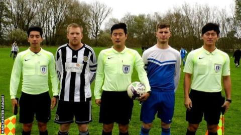 Three Koreans take charge of Manchester league game