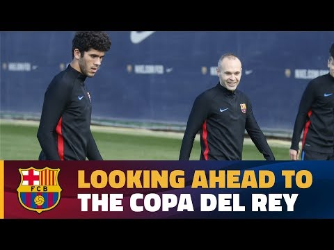 Recovery session with Copa del Rey on the horizon