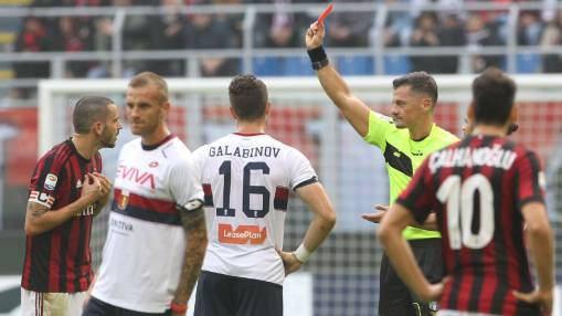Leonardo Bonucci gets 4/10 after red card as AC Milan shut out again