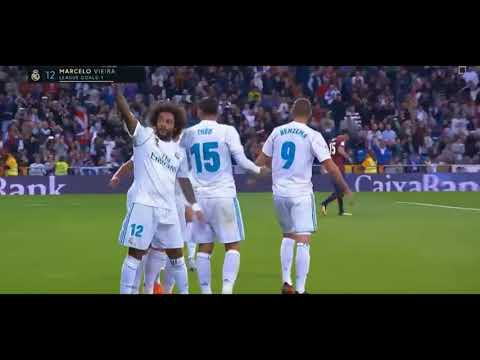 Benzema & Marcelo link up to score a lovely goal(3-0) - Real Madrid vs Eibar