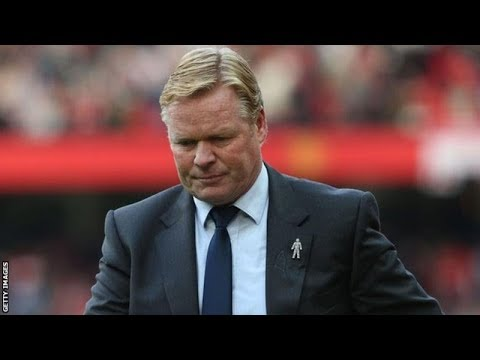 Ronald Koeman sacked by Everton