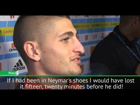 Verratti & Mbappe on Neymar red card -