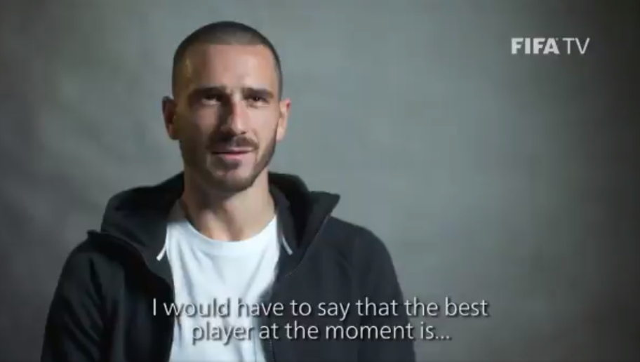 VIDEO: AC Milan Defender Leonardo Bonucci Gives His Verdict on the Current Best Player in the World