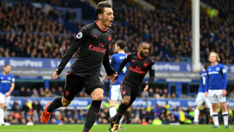 Arsenal Fan's Mesut Ozil Tweet Backfires Following German's Goal in 5-2 Everton Win