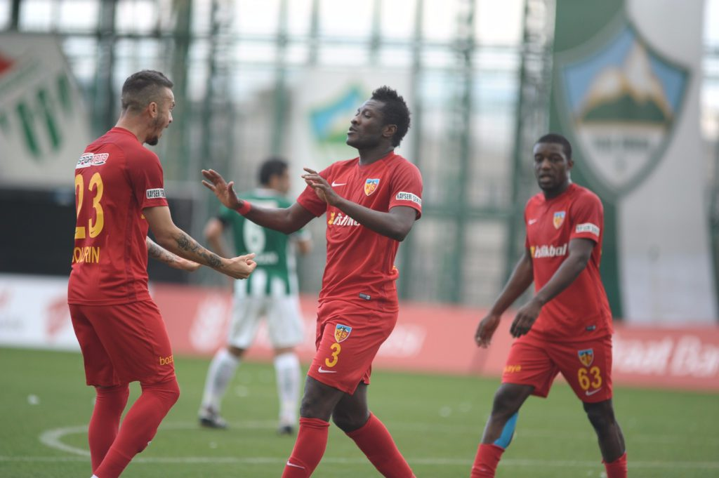 Ghana skipper Asamoah Gyan aids Kayserispor in 3-2 win over Kisampasa