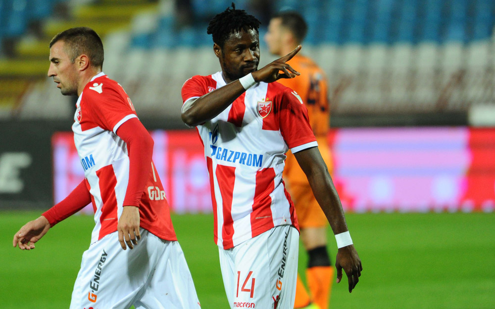 Video: Ghana's Boakye-Yiadom bags brace as Red Star Belgrade beat Vojvodina in Serbian SuperLiga