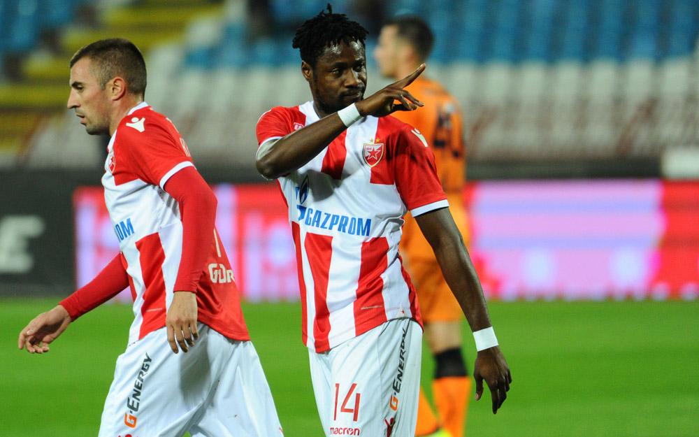 Video: Ghana's Boakye-Yiadom bags brace as Red Star Belgrade beat Vojvodina in Serbian SuperLiga