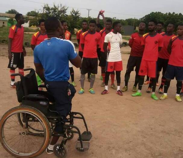 James Eduful- The disabled coach crying for help to make a huge difference