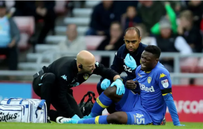 Crocked Leeds United striker Caleb Ekuban plans to be back in action soon