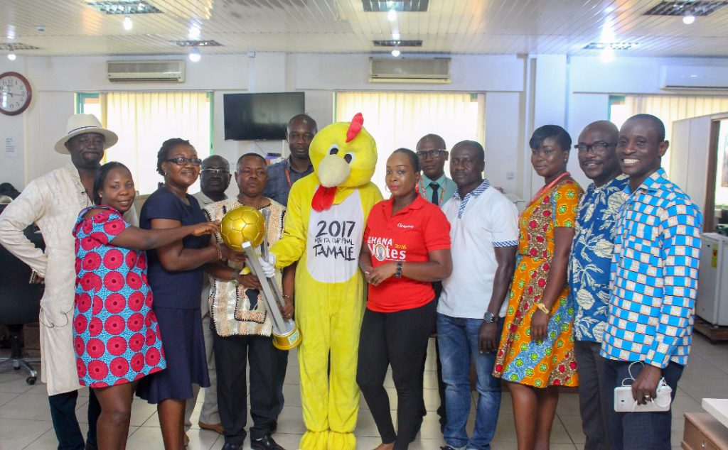 2017 MTN FA Cup mascot and trophy land in Kumasi