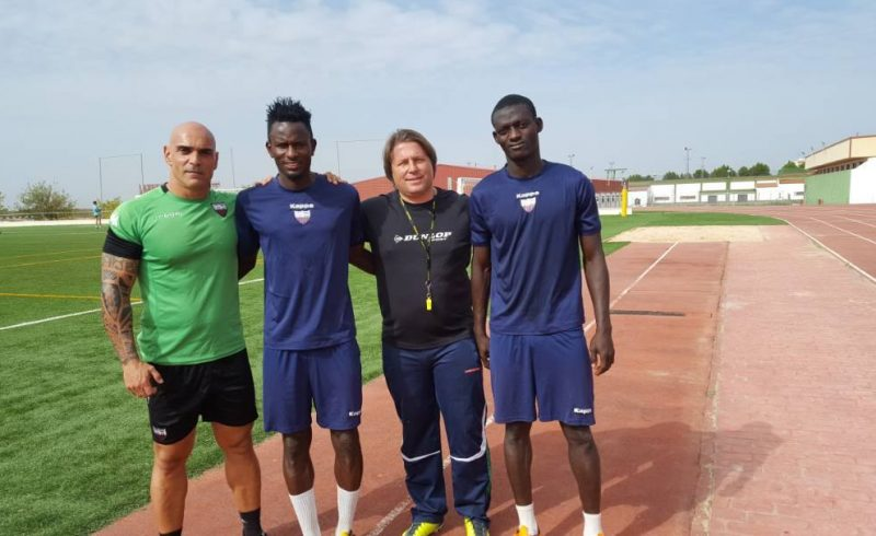 Ghanaian midfielder Emmanuel Lomotey holds first training with Spanish side Extremadura UD