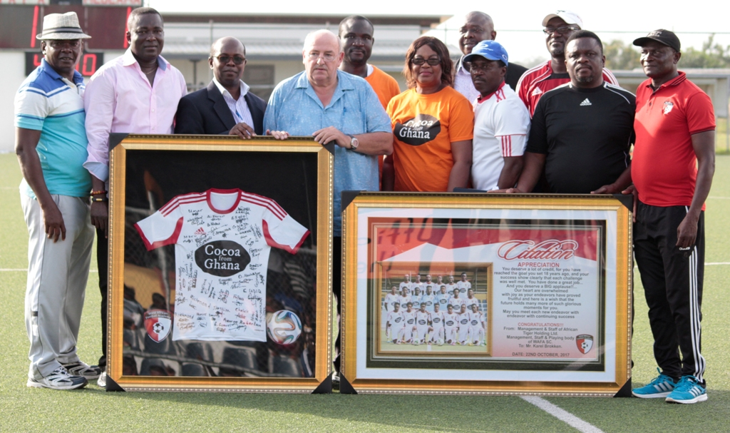 WAFA SC honour Managing Director Karel Brokken after 18 years of existence